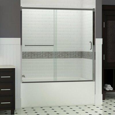 "Infinity-Z 58"" x 60"" Sliding Frameless Tub Door Product Photo"