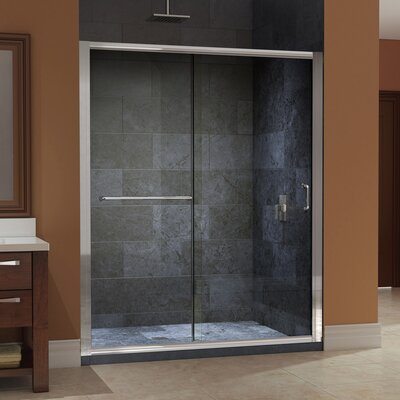 "Infinity-Z 72"" x 60"" Sliding Frameless Shower Door Product Photo"