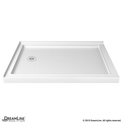 "SlimLine 34"" by 48"" Double Threshold Shower Base Left Hand Drain Product Photo"