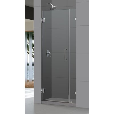 "UniDoor Lux 72"" x 46"" Pivot Frameless Hinged Shower Door Product Photo"