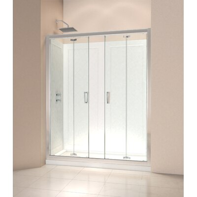 "Butterfly 72"" x 59.5"" Slide Frameless Bi-Fold Shower Door Product Photo"