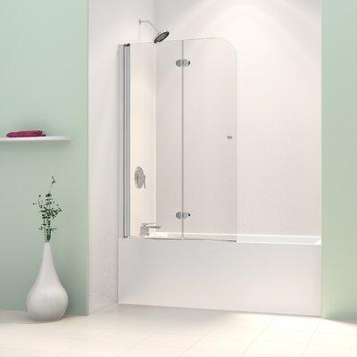 "AquaFold 58"" x 36"" Pivot Frameless Hinged Tub Door Product Photo"