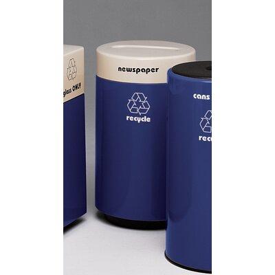 Witt Fiberglass Recycling 21-Gal Glass Industrial Recycling Bin