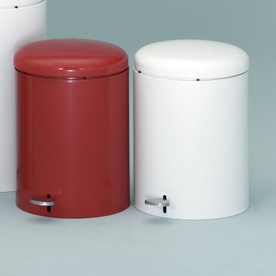 Witt 4-Gal Metal Series Step-On Trash Can with Galvanized Liner
