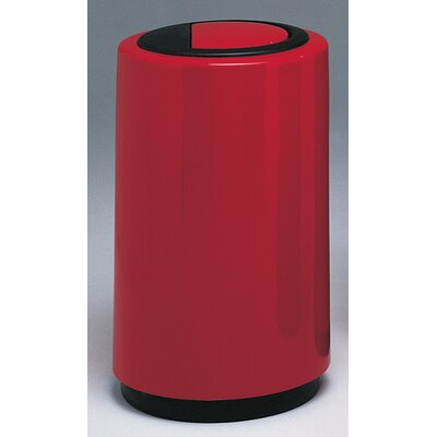 Witt Top Entry Round 21-Gal Fiberglass Series Receptacle with Doors on Trash Opening
