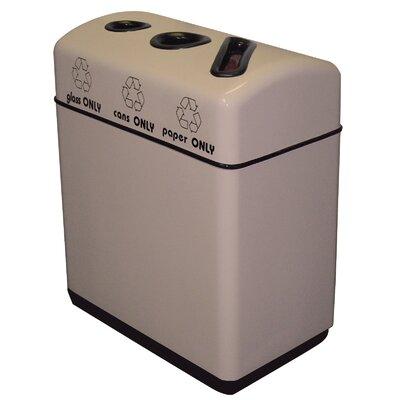 Witt Fiberglass Recycling 48-Gal Triple Opening Multi Compartment Recycling Bin