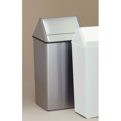 Witt Waste Watchers 21-Gal Metal Series Swing Top Receptacle