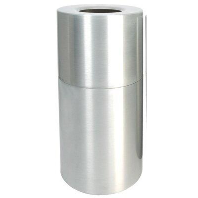 Witt Stadium Series Aluminum 35-Gal Receptical with Liner