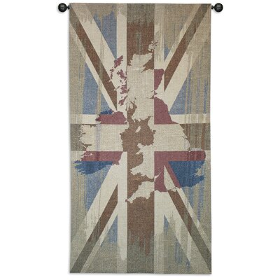 Fine Art Tapestries Union Jack by Julianna Jame Tapestry