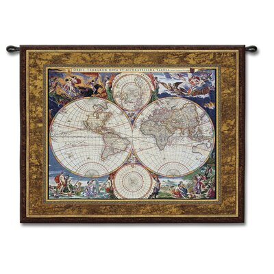 Fine Art Tapestries Classical World Map by Acorn Studios Tapestry