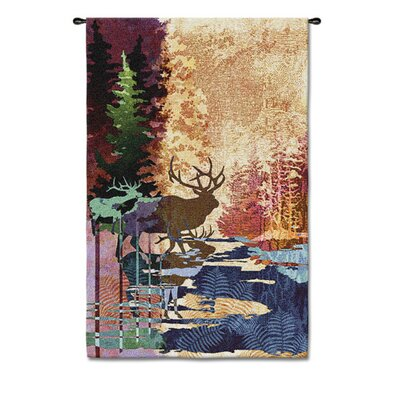 Fine Art Tapestries Abstract Ghosts / Tall Timbers by Acorn Studios Tapestry