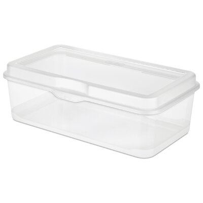 Sterilite Large Clear Flip Top Storage Box