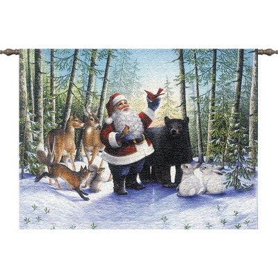 Pure Country Weavers Santa in the Forest Tapestry