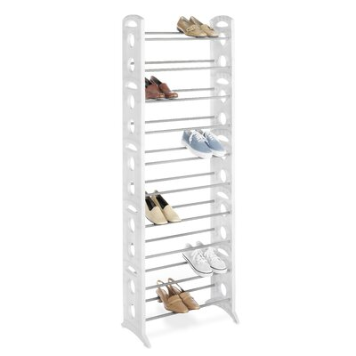 30 Pair Floor Shoe Stand with Non-Slip Bars by Whitmor, Inc