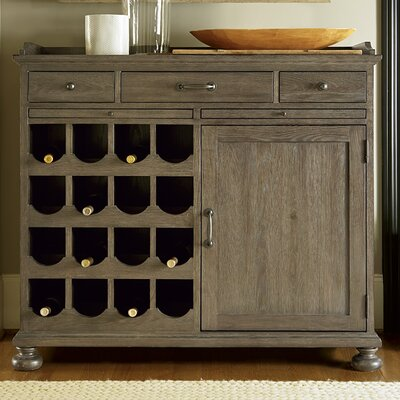Universal furniture berkeley 3 16 bottle wine cabinet for Kitchen cabinets berkeley