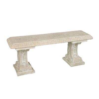 OrlandiStatuary Furniture Antica Stone Garden Bench