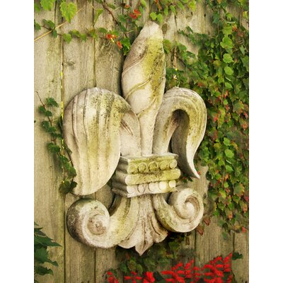 Fleur De Lis of Old Wall Decor by OrlandiStatuary