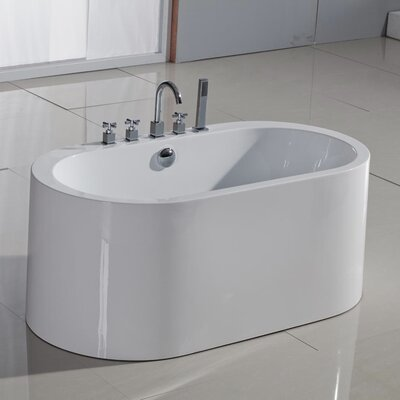 "PureScape 55"" x 30"" Semi-Freestanding Acrylic Bathtub Product Photo"