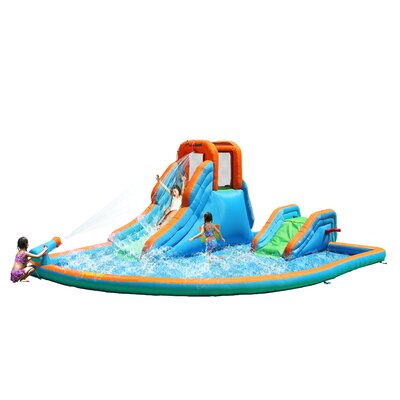 Cascade Inflatable Water Slides with Large Pool Product Photo