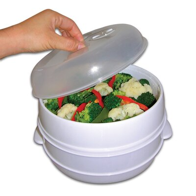 Chef Buddy Microwave Food Steamer and Cooker
