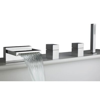 Quarto Deck Mount Roman Tub Faucet Trim Product Photo