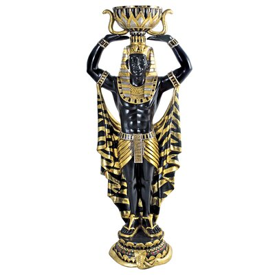 Cleopatra's Egyptian Nubian Guard Scale Statue by Design Toscano