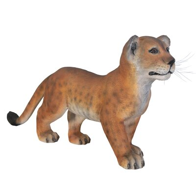 The Grand - Scale Wildlife Animal Standing Lion Cub Figurine by Design Toscano
