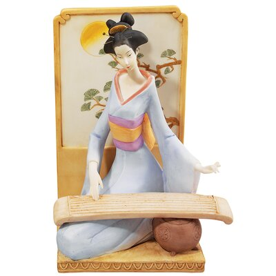 Japanese Geisha Musical Court with Koto Figurine by Design Toscano