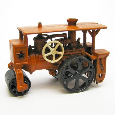 Design Toscano Steam Roller Replica Farm Toy Tractor Sculpture