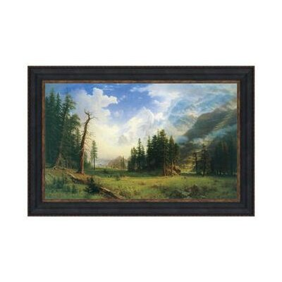 Mountain Landscape 1895 by Albert Bierstadt Framed Painting by Design Toscano