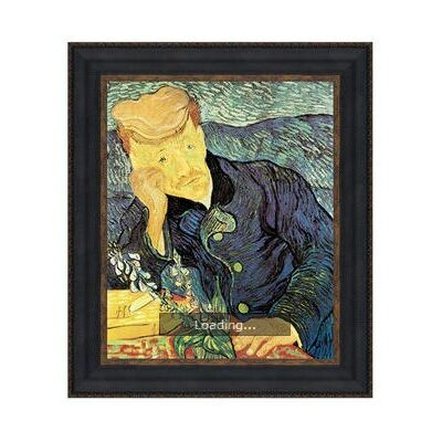 'Portrait of Doctor Gachet, 1890' by Vincent Van Gogh Framed Painting by Design Toscano