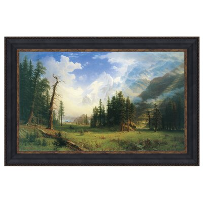 Mountain Landscape, 1895 Framed Original Painting by Design Toscano