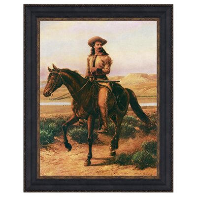 Buffalo Bill on Charlie, 1865 Framed Original Painting by Design Toscano