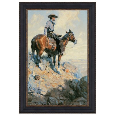 Sentinel of the Plains, 1906 Framed Original Painting by Design Toscano