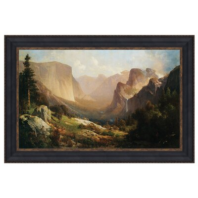 View of Yosemite Valley, 1865 Framed Original Painting by Design Toscano