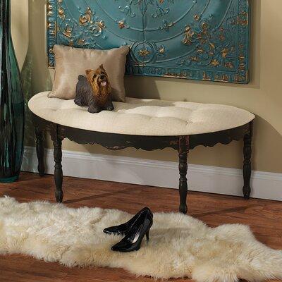 Marceau Half Crescent Bedroom Bench by Design Toscano