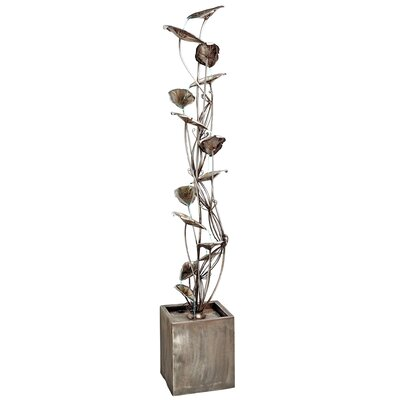 Wandering Leaf Cascading Metal Tower Fountain by Design Toscano