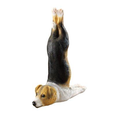 The Zen of Canine Woofamba Beagle Yoga Dog Statue by Design Toscano