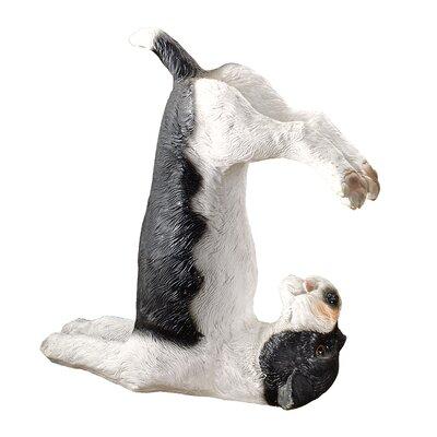 The Zen of Canine Barkasana Terrier Yoga Dog Statue by Design Toscano