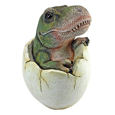 Baby Tyrannosaurus Rex Dino Egg Sculpture by Design Toscano