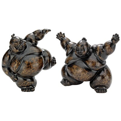 2 Piece Full Contact Sumo Wrestler Statues by Design Toscano