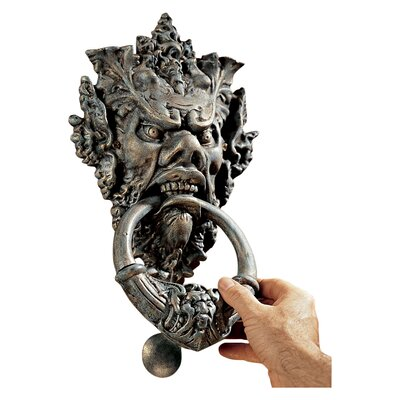 Design toscano vecchio greenman authentic iron door knocker - Greenman door knocker ...