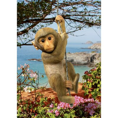 Chico the Chimpanzee Hanging Baby Monkey Statue by Design Toscano