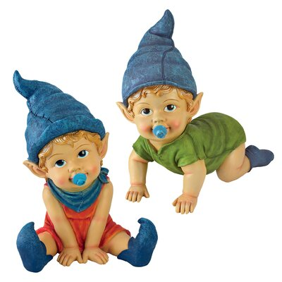 Archibald and Blaze the Baby Gnome Statues by Design Toscano