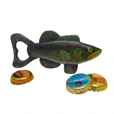Trout Tales Cast Iron Bottle Opener by Design Toscano