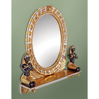 Design Toscano Egyptian  Statue Vanity Mirror
