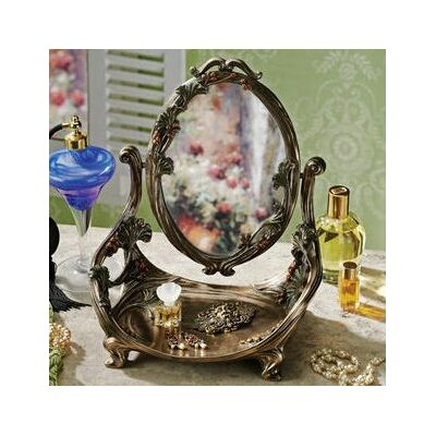 design toscano guimard art nouveau vanity table mirror with stand reviews wayfair. Black Bedroom Furniture Sets. Home Design Ideas