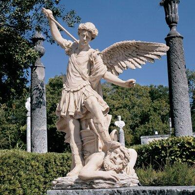 St. Michael The Archangel Garden Angel Statue by Design Toscano