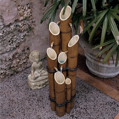 Resin Bamboo Sculptural Fountain by Design Toscano
