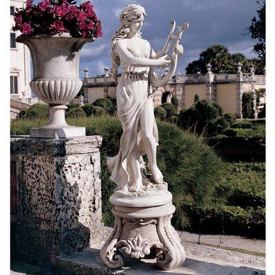 Design Toscano Muse with Harp Statue